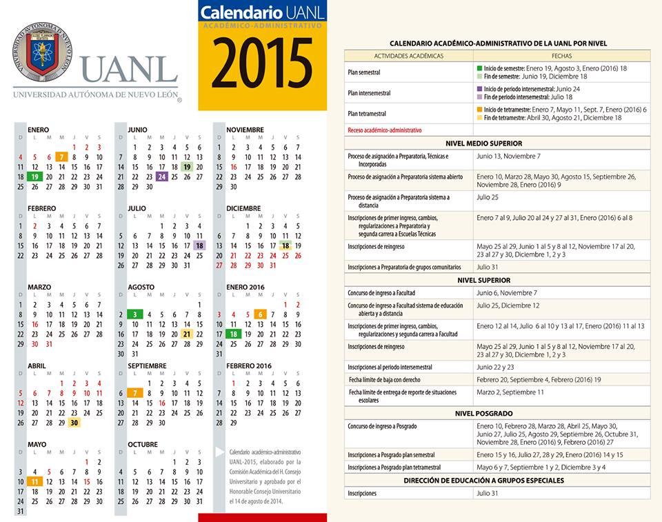 Calendario   Facultad de Ciencias de la Tierra